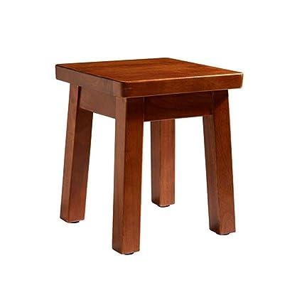 Wondrous Amazon Com Yzdz Small Square Stool Solid Wood Stool Customarchery Wood Chair Design Ideas Customarcherynet