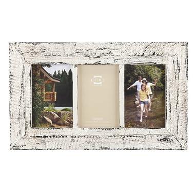 Prinz Birch Hollow Antique Wood 3-Opening Photo Frame, White