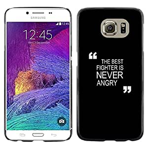 Planetar® ( Black Motivational Fighter Boxing Zen ) Samsung Galaxy S6 / SM-G920 / SM-G920A / SM-G920T / SM-G920F / SM-G920I Fundas Cover Cubre Hard Case Cover