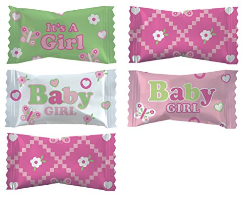 Party Sweets Baby Girl Blessing Buttermints by Hospitality Mints, Appx 300 mints, 7-Ounce Bags (Pack of 6) -