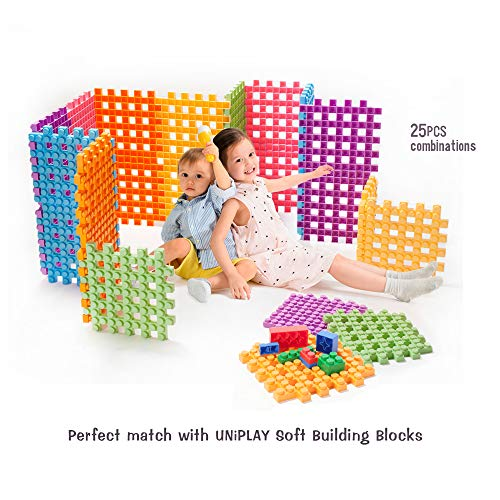 UNiPLAY Soft Building Blocks - Big Cube(6 PCS), Educational and Creative Toys. Food Grade Material(Antibacterial), Non-Toxic, BPA Free, 100%Safe for Kids, Toddlers, Baby, Preschoolers by UNiPLAY