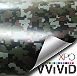 VViViD Vinyl Camouflage Pattern Wrap Air-Release Adhesive Film Sheets (15ft x 5ft, Digital Camo)