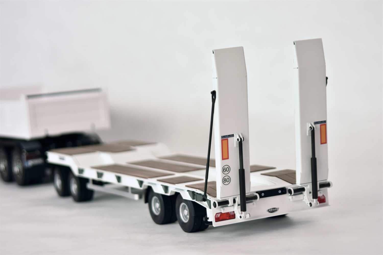 Anh/änger Ma/ßstab 1:14 RC-Truck Auflieger Zubeh/ör Modellbau CARSON 500907400-1:14 Goldhofer TU4 Tiefladeanh/änger 4A.