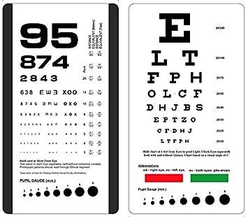 picture regarding Rosenbaum Chart Printable named Snellen and Rosenbaum Pocket Eye Chart - Pack of 2 Playing cards