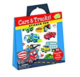 Peaceable Kingdom-Cars and Trucks-Reusable Sticker Tote