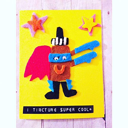 Superhero Greeting Card Pun Greeting Card Love You Card Tincture Bottle Friendship Card I TINCTURE SUPER COOL!! Love Card Miss You Card Super cool Greeting Card Superhero Tincture Card