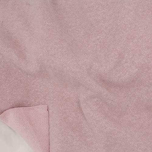 Telio Eco Organic Cotton Hemp Fleece Fabric, Blush, Fabric By The Yard