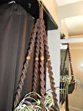 Macrame Plant Hanger COFFEE 4 Dark Brown Beads BEADS Review