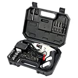 Yaetek 45 in 1 Portable Cordless Drill Driver, Rechargeable Electric Screw Drill Repair Power Tools Set 4.8V, 1300 mAh NiCd, with 45 Pcs Screwdriver and Drill for Home work (US Plug)