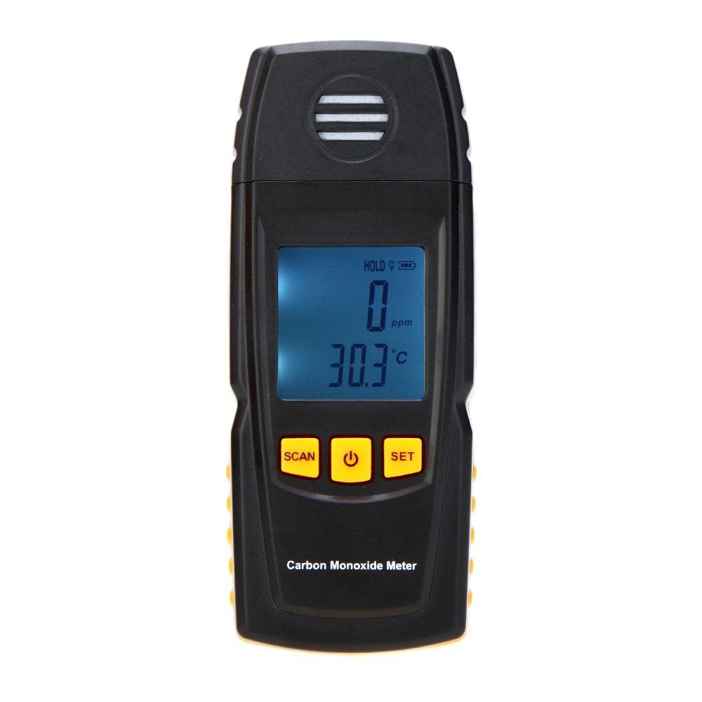 Medidor de monó xido de carbono KKmoon de mano de alta precisió n con CO comprobador de Gas Detector de calibre 0 - 1000 ppm GM8805