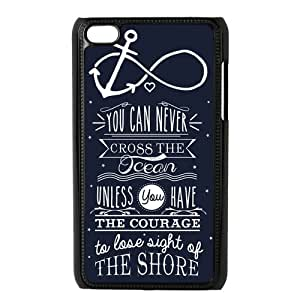 Infinity Anchor Hard Plastic Protector Snap On Cover Case For Apple Ipod Touch 4,4th Generation