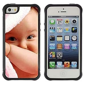Pulsar Defender Series Tpu silicona Carcasa Funda Case para Apple iPhone 5 / iPhone 5S , Cute Baby Girl