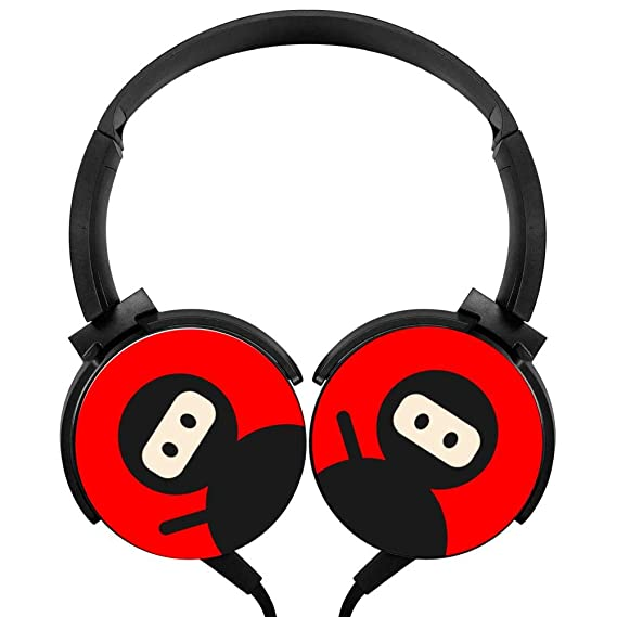 f0af68f82bd Image Unavailable. Image not available for. Color: Ninja Stereo Portable  Headphones Lightweight Wired Headset