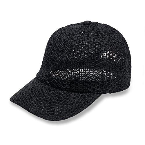 free-spirit-adjustable-open-knit-straw-like-baseball-cap-hat-for-women-girls-lightweight-versatile-f