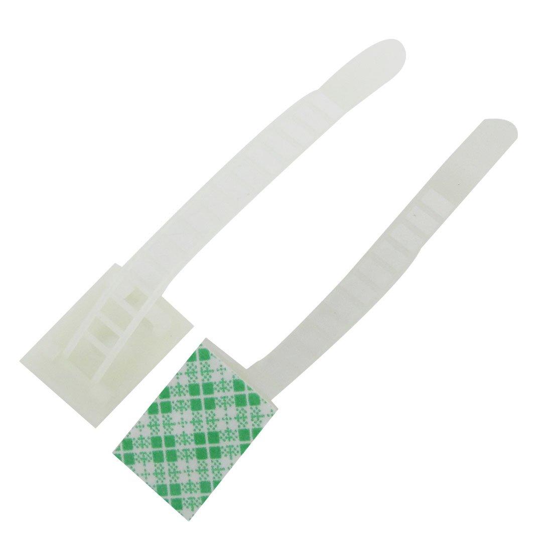 White Plastic ATC-17 Adjustable Cable Fixing Clip Holder 100 Pcs