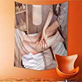 Polyester Tapestry Wall Hanging woman having revitalizing therapeutic foot massage in spa salon Wall Decor for Bedroom Living Room Dorm 40W x 60L Inch
