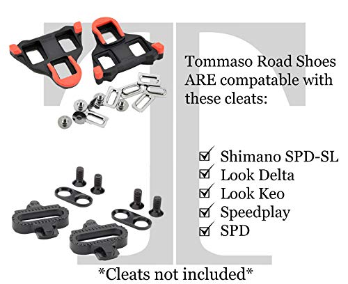 6739e0e0124634 tommaso Pista Women's Road Bike Cycling Spin Shoe Dual Cleat Compatibility-  Black/Blue -