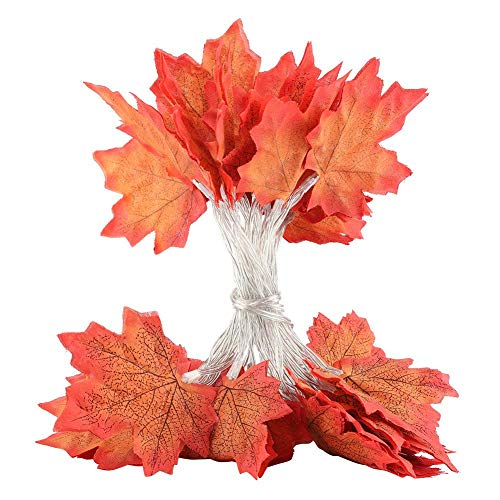 Brrnoo Maple Leaf Style Fairy Light, LED String for Halloween Indoor Outdoor Decoration(#03)]()