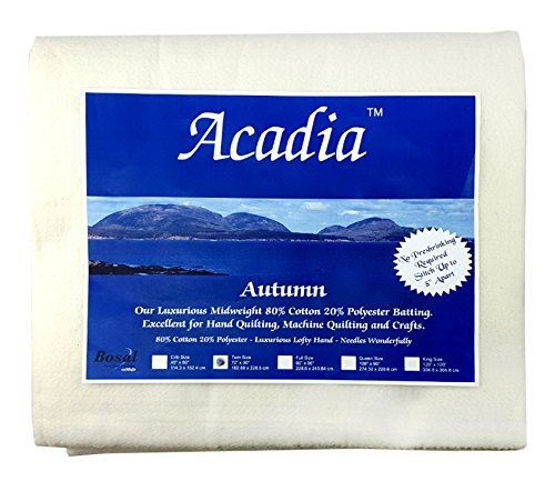 Bosal 3509-02 | Acadia Cotton Polyester Batting |180x225cm by Acadia