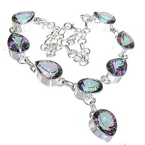 Wonderful Mystic Topaz Sterling Silver Necklace 16 inches long by Silver Island