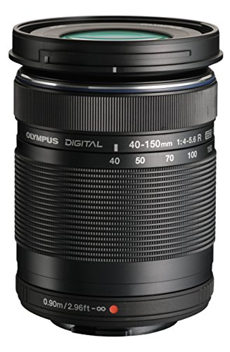 Olympus M.Zuiko Digital ED 40-150mm F4.0-5.6 R Zoom Lens, for Micro Four Thirds Cameras (Black) (Renewed)