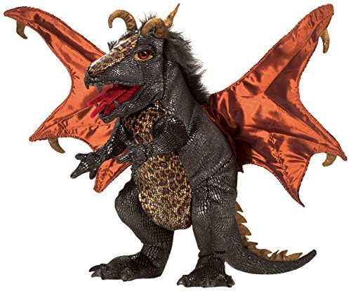 Folkmanis Dragon Hand Puppet Plush, Black (Puppet Three Dragon Headed)