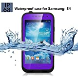 Galaxy S4 Waterproof Case, Underwater Waterproof, Dust Proof, Snow Proof, Shock Proof, Dirt proof, Sweat Proof Case with Touched Transparent Screen Protector, Heavy Duty Protective Carrying Cover Case, Durable Full Sealed Protection Case Cover for Samsung Galaxy S4 (Purple)