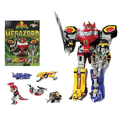 Mighty Morphin Power Rangers Legacy Dino Megazord Action Figure (Mighty Morphin Power Rangers Zords)