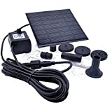 JAXPETY Solar Water Panel Power Fountain Pump Kit Pool Garden Pond Watering Submersible