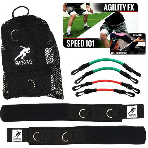 Kbands | Speed and Strength Leg Resistance Bands | Includes Speed 101 and Agility FX Digital Training Programs (User weight more than 110 lbs)