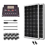 Renogy 200 Watt 12 Volt Monocrystalline Solar Starter Kit with 30A PWM Controller - LCD Display