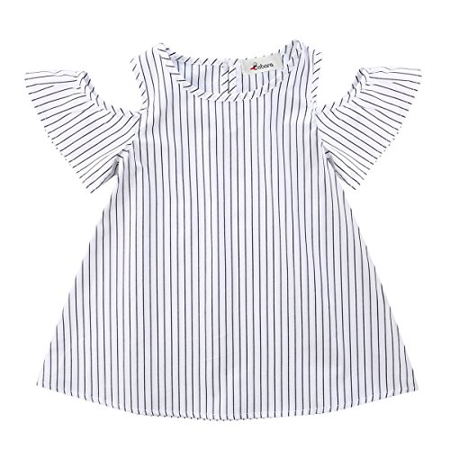 6471dab26 BOBORA Toddler Baby Girl Summer Off Shoulder Stripe Dress Outfit - Buy  Online in Oman. | Apparel Products in Oman - See Prices, Reviews and Free  Delivery in ...