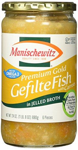 Manischewitz Gefilte Fish (Manischewitz Premium Gold Gefilte Fish, 24 oz)