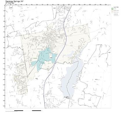 amazon com zip code wall map of saratoga springs ny zip code map rh amazon com Lake Placid NY saratoga springs ny full zip code