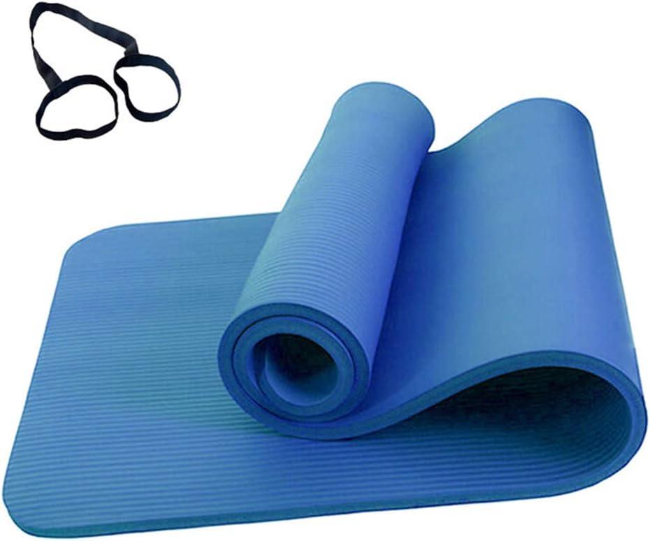 Esterilla Yoga Antideslizante Alfombrilla de Yoga con Banda de Almacenamiento y Bolsa de Malla para Amantes del Yoga Mujeres Embarazadas Ni/ños Ancianos Excursionistas Viajeros 183/×61cm