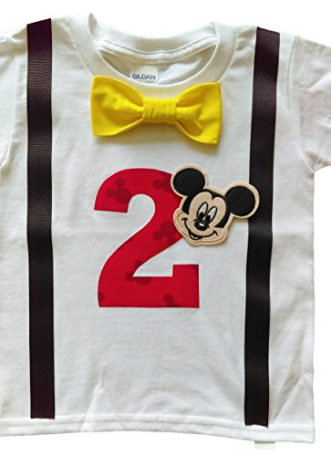 2nd Birthday Shirt Boys Mickey Mouse Tee (4T, (Mickey Mouse Birthday Shirt)