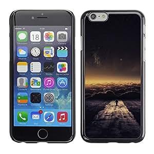 EJOY---Cubierta de la caja de protección la piel dura para el / iPhone 6 / --Nube Paseo