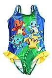 UK Pokemon Go Girls Swimwear Swimming Costume Swimsuit Pikachu Squirtle Charmander Bulbasaur (4-5 Years)