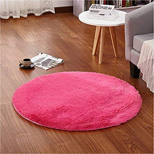 gs Super Soft Smooth Rugs Living Room Carpet Bedroom Rug for Children Play Solid Home Decorator Floor Rug and Carpet 4-Feet (Hot Pink) ()