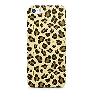 Loud Universe Animal Print Cheetah Printed Durable Wrap Around iPhone SE Case - Beige