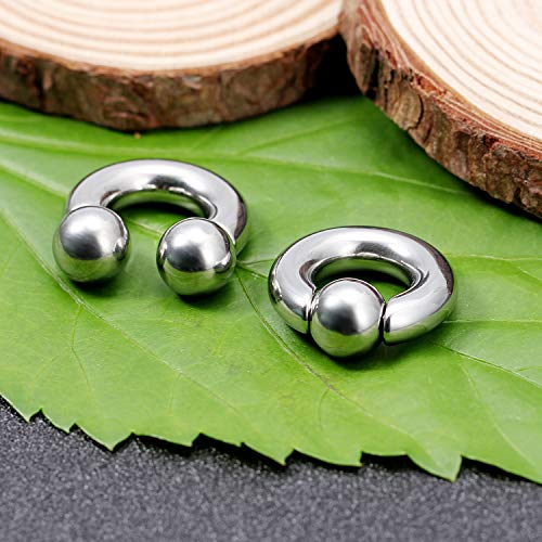 Body Piercing Jewellery Jewellery & Watches Constructive 2pc 1.2mm Rainbow Circular Barbell Horseshoe Earrings Stainless Steel Tragus