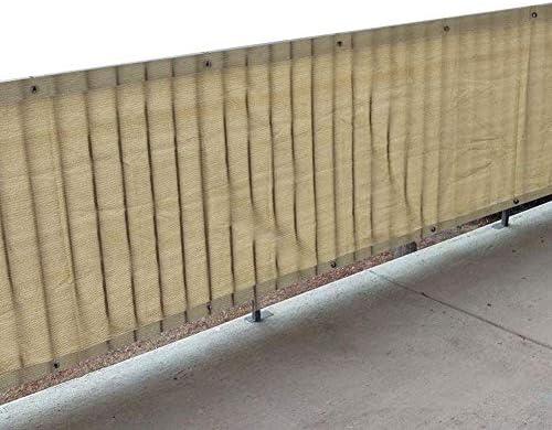 日除け シェード オーニング バルコニープライバシーフェンスメッシュスクリーンスクリーニングカバー、 ベージュ表示フェンスカバー パティオポーチデッキガーデン屋外保護フロントガラスカバー (Size : 3Mx5M)