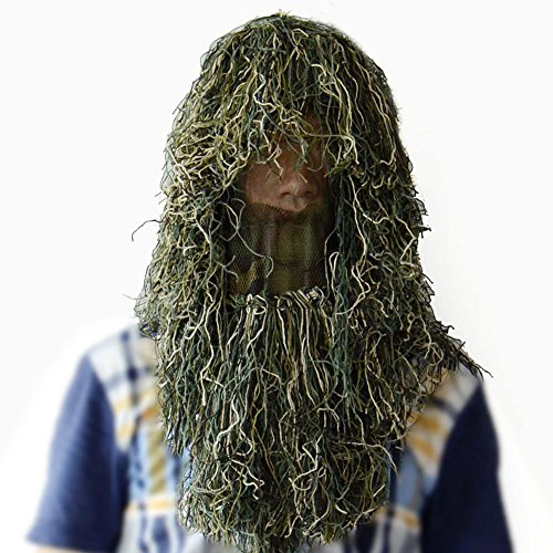 Hunting Camouflage Ghillie Hood (Woodland)