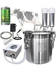 Hantop Milking Machine,Portable Pulsation Rechargeable Battery Powered Vacuum Pump Milker Livestock Milking Machine (Pro Model)