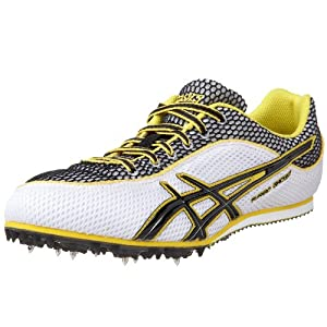 ASICS Men's Turbo Ghost 3 Track and Field Shoe,White/Black/Yellow,13 M