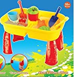 Sand and Water Play Activity Table with 8 accessories