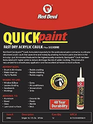 Amazon Com Red Devil 0946 Fast Dry Acrylic Caulk Pack Of 1 White Home Improvement