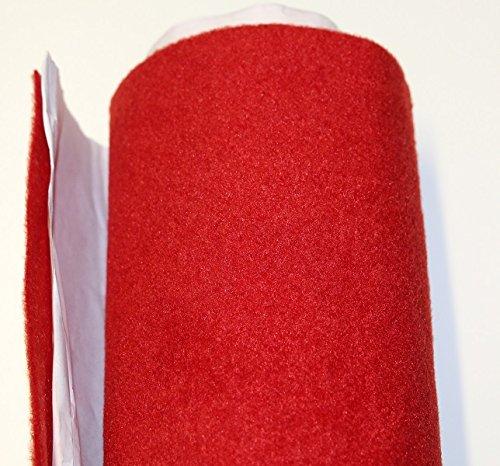 Moquette adesiva liscia da 65x151 cm di colore rosso Black music