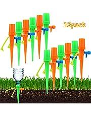 WenX 【2019 NEU】 Automatisches Bewässerungssystem für Pflanzen Selbstansaugendes Tropfbewässerungssystem 12 STK, Wasserspender für Pflanzen mit Reißschutz für alle Flaschen