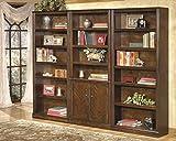 Hamrown Medium Brown 3PC Bookcase set